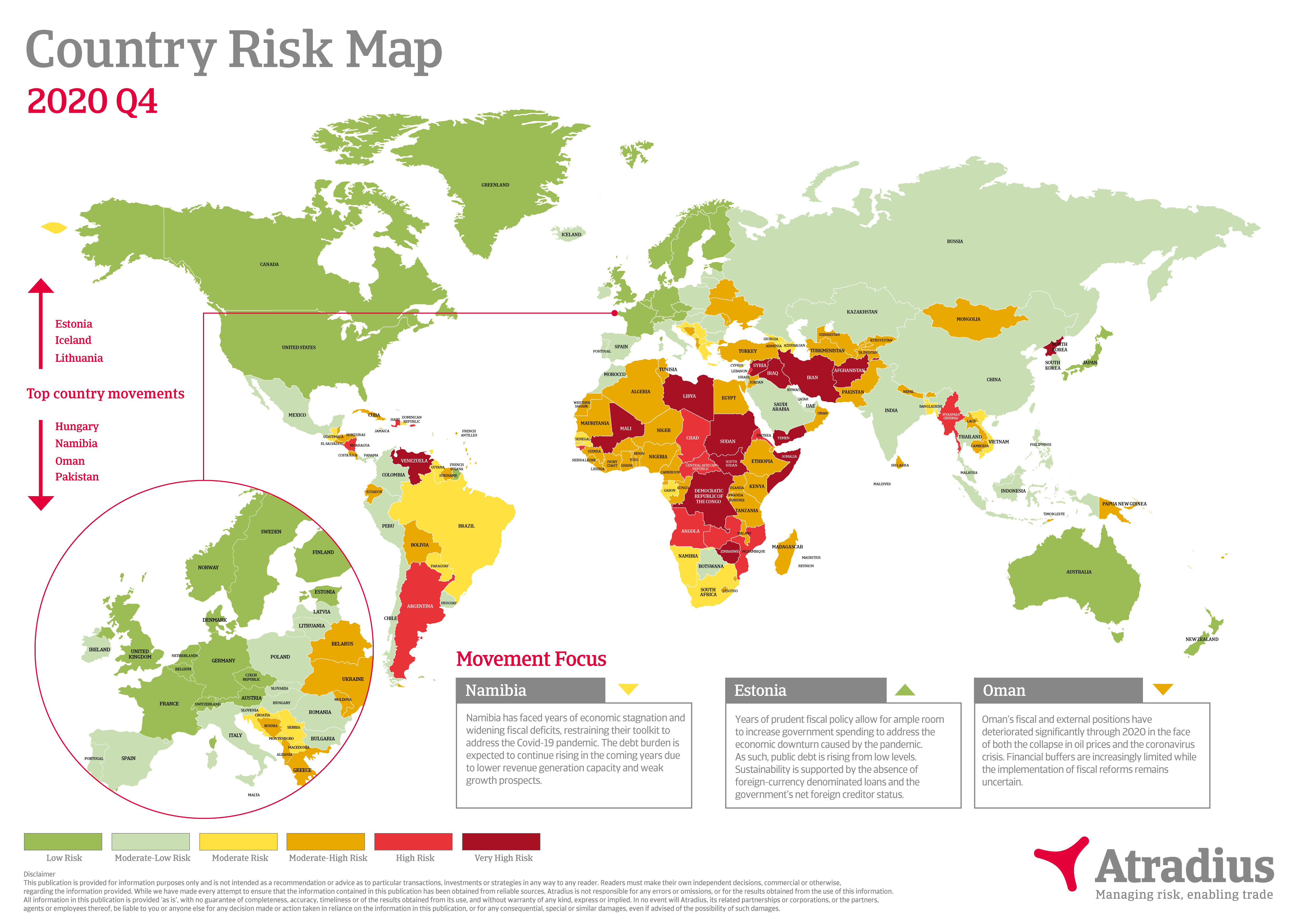 Atradius Risk map Q4 2020