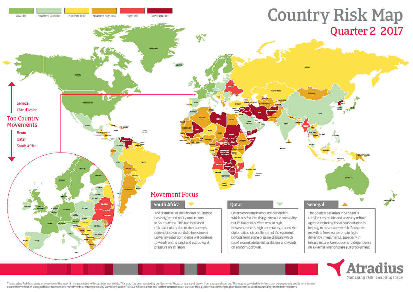 Country Risk Map Q2 2017