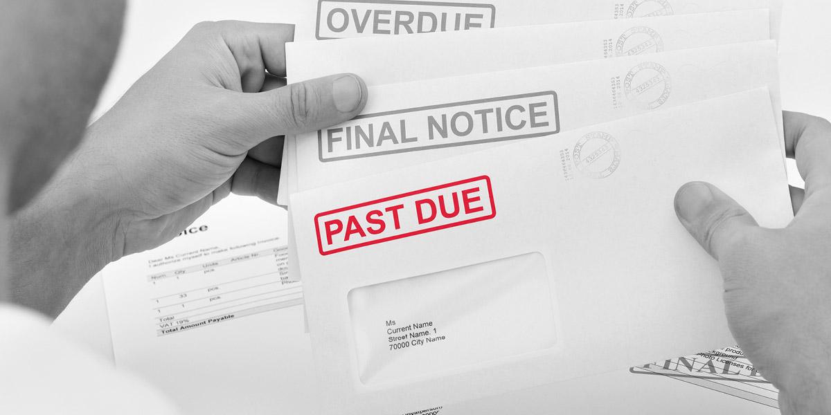 Past due stamp on invoice for customer | Atradius