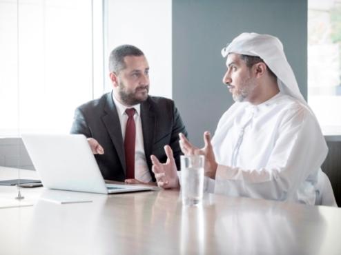Middle East Business Men Talking